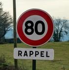 80 km/h Premier ministre persiste signe