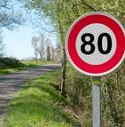 La limitation de vitesse à 80 km/h sur les routes nationales est entrée en vigueur